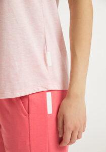 Elbsand LIANA – rosé farbenes Tank Top, lockerer Schnitt mit Rollsäumen, Rippdetails und kleinem Logo flock auf der Brust. Angenehm weiche Baumwollmischung in Mounlineoptik.